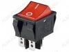 Сетевой выключатель RWB-513 (SC-767) красный широкий с подсветкой 29,5*22,2mm; 15A/250V; 4 pin