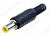 Разъем (1091) DJK-12A реверс Штекер на кабель, 5.0х0.7мм