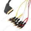 Шнур (5-122 3.0) SCART/6RCA 3.0м Plastic-Gold