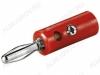Разъем (067) BANANA штекер на кабель красный пластик