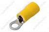 Клемма кольцевая (№27) d=5.3мм VR5.5-5 изолированная сечение 3.5-5.5 мм2; желтая