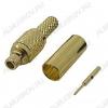 Разъем (451) MMCX-C174P Штекер на кабель RG-174 под обжим