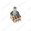 Потенциометр 500КB*2 исп.2 RV16A01F-10-15K-A500K-3 (R194) Металлический, вал 15 мм с накаткой и шлицем, логарифмическая зависимость