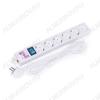 Фильтр сетевой SPG(5+1)-16B-1.9м 16A, ABS-пластик, кабель 3х1мм; ном. нагрузка 3500Вт