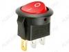 Сетевой выключатель RWB-214 красный круглый с подсветкой d=20.7mm; 6A/250V; 3 pin