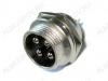 Разъем (419) MIC16-4pin штекер на корпус