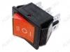 Сетевой выключатель RWB-509 (SC-767) красный широкий с нейтралью 27,8*21,8mm; 15A/250V; 6 pin