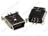 Разъем (3741) MINI USB B 5F Гнездо на плату 5-pin прямое