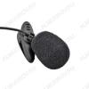 Микрофон петличный RCM-101, разъем 3 pin (для ПК и диктофонов) 20-20000Гц, петличный, конденсаторный, всенаправленный, 2.2кОм, 65дБ, кабель 1.2м, разъем 3.5мм, в комплекте держатель-клипса, ветрозащита