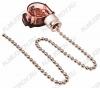 Выключатель для настенного светильника с цепочкой (32-0101) silver 220V; 3A
