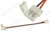 Разъем для LED ленты FIX-MONO10-2 (2 разъема с проводом) (023948) для 10мм одноцветных лент, защелка, длина провода 15см