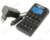 Зарядное устройство POWERLINE 4 PRO для 1-4шт NiCd,NiMh AAA/AA (настройка зарядного тока 250-1800mA); LCD-дисплей; микропроцессорная обработка, заряд, разряд, тест, измерение емкости