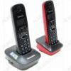 Радиотелефон KX-TG1612RU3 серый/красный