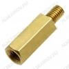 Стойка (№54) для платы PCHSN-10 металл h=10мм, резьба М3 наружная+внутренняя