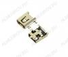 Разъем (380) MINI USB B 8S Гнездо на плату 8-pin угловое SMD