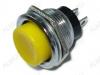 Кнопка PBS-26B OFF-(ON) (RWD-306) (желтая без фикс. на замыкание)