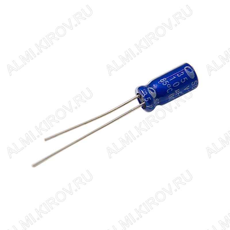 Конденсатор электролитический SD1V106M05011BB180   10мкФ 35В 0511 +85°C