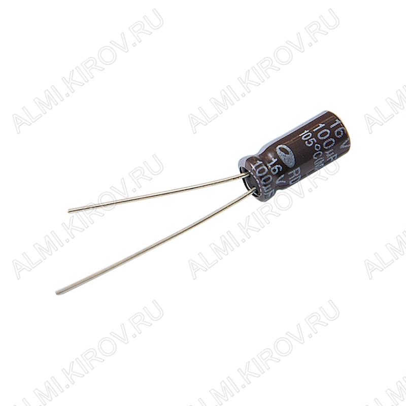 Конденсатор электролитический RD1C107M05011BB180  100мкФ  16В 0511 +105°C