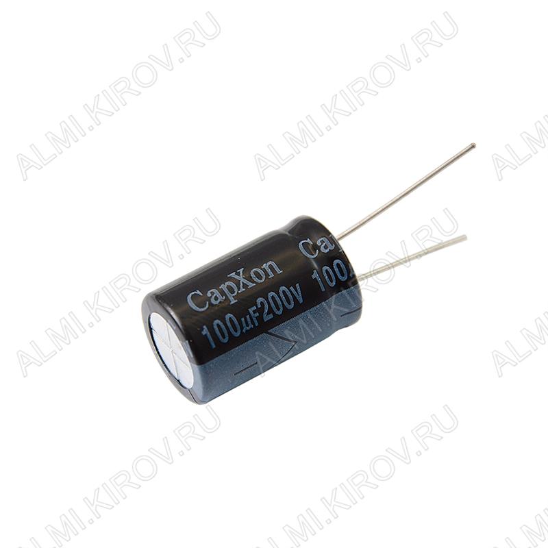 Конденсатор электролитический   100мкФ 200В 1625 +105°C