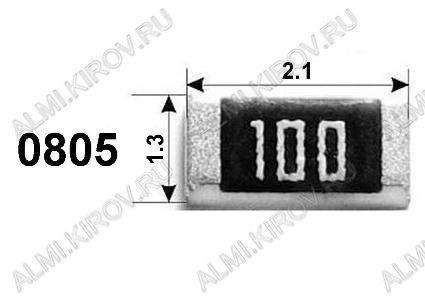 Резистор RC0805JR-0722RL   22 Ом Чип 0805 0.125Вт 5%