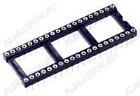 Панелька TRL 2.54/40 (SCLM-40) цанговая, шаг 2.54мм, широкая