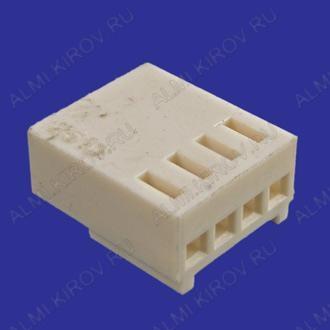 Разъем HU-04 Розетка на кабель, 4к, 2.54