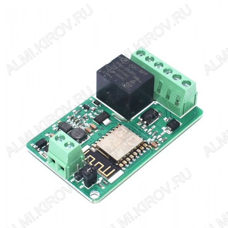 Модуль реле с Wi-Fi 12В с управлением по Wi-Fi на чипе ESP8266.