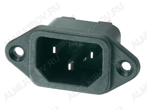 Разъем (400) AC-016 штекер на корпус с ушами 250V; 10A