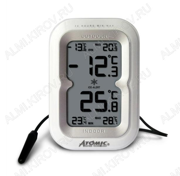 Термометр цифровой Atomic W239230 Измерение наружной и внутренней температуры (гарантия 6 месяцев)