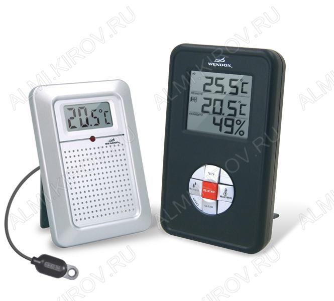Термометр цифровой 4580 Black c радиодатчиком Измерение наружной и внутренней температуры; внутренней влажности (гарантия 6 месяцев)