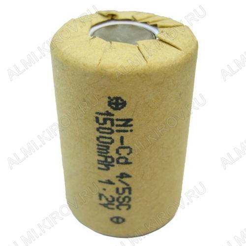 Аккумулятор 4/5SC MH-1500SC/HP 1500mAh 1.2V;NiCd; 23*34мм                                                                                                          (цена за 1 аккумулятор)