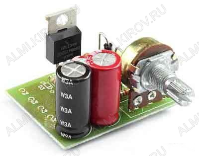 Радиоконструктор Регулятор ШИМ 12...30В 10А  RP124.1 (набор для сборки) 12...30В (10A). Для регулирования скорости вращения коллекторных электродвигателей постоянного тока, светодиодных лент 12-24В; Частота ШИМ: ~20 кГц.