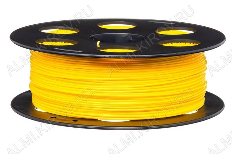 ABS пластик для 3D печати 1.75мм. Желтый(м) (6054) 1м..; Плотность: 1,05 г/см; Темп. экструзии: 230 - 240 °С; Тепл. изделия: 105 °C; Производитель:  (ФДпласт)