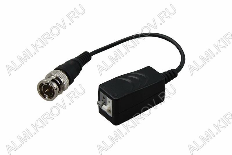 Приемо-передатчик видеосигнала JD-BNC10 (05-3077-4) Прием и передача видеосигнала по витой паре без дополнительного питания; цветное изображение до 300м, черно-белое изображение до 500м; 2 адаптера