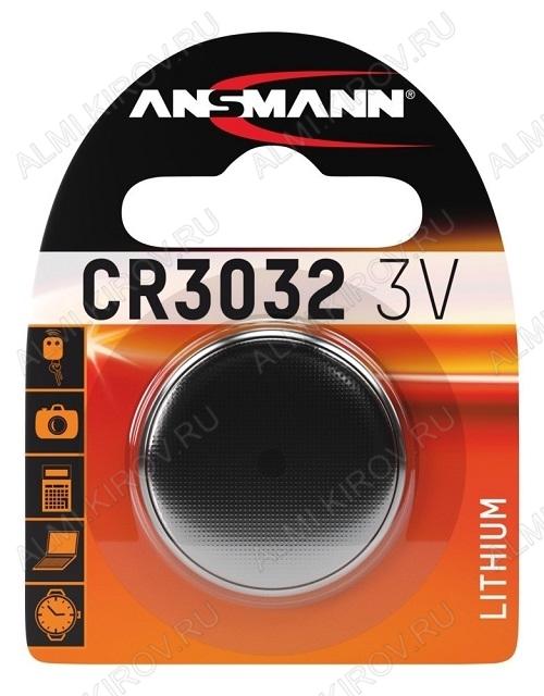 Элемент питания CR3032 3V;литиевые; блистер 1/10                                                                                            (цена за 1 эл. питания)