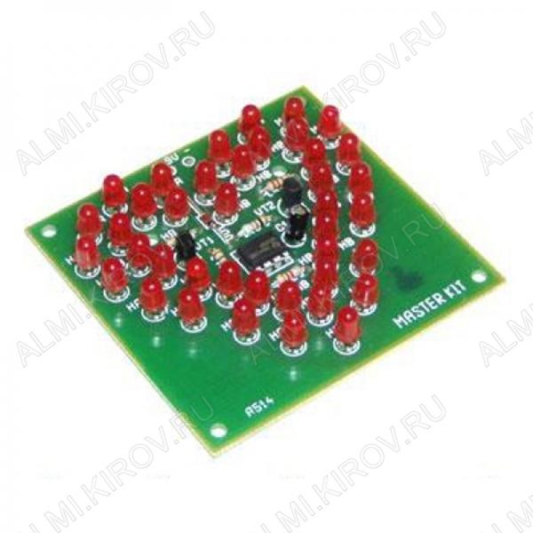 Радиоконструктор Живое сердце NS094 (питание: 9В) Напряжение питания устройства: 9 B; Ток потребления: 50 мА; Размеры печатной платы: 72х74 мм