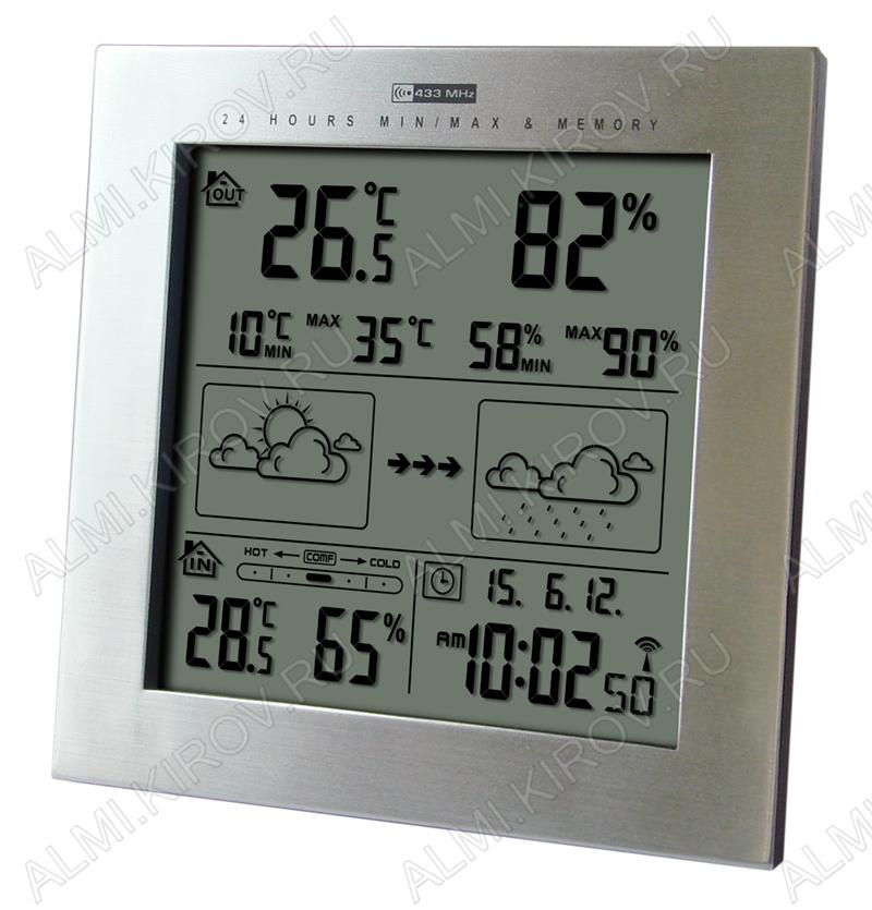 Метеостанция MC-233 c внешним радиодатчиком Измерение наружной и внутренней температуры, внутренней влажности, календарь, часы; питание 3хR3 радиодатчика 2хR3 (гарантия 6 месяцев)