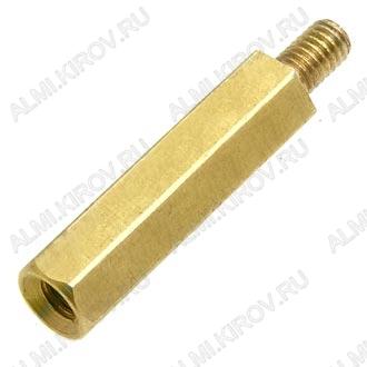 Стойка (№56) для платы PCHSN-18 металл h=18мм, резьба М3 наружная+внутренняя