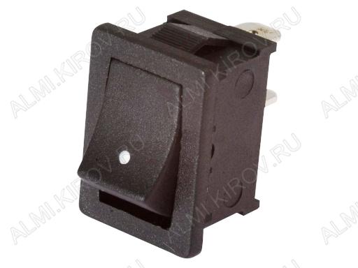 Сетевой выключатель RWB-201 (SWR-41) черный без фиксации 19,2*13,0mm; 6A/250V; 2 pin