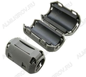 Фильтр ферритовый ZCAT2436-1330A серый на кабель d=10.0-13.0 мм