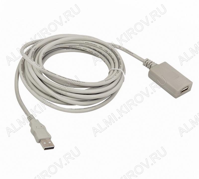 Шнур USB A шт/USB A гн 5.0м с усилителем