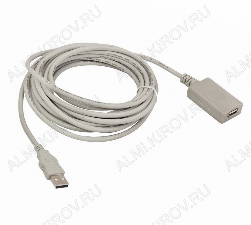 Шнур USB A шт/USB A гн 10.0м с усилителем
