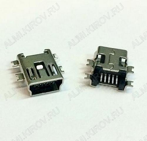 Разъем (3742) MINI USB B 5 (MU-005-15) (5SA) Гнездо в плату 5-pin врезное