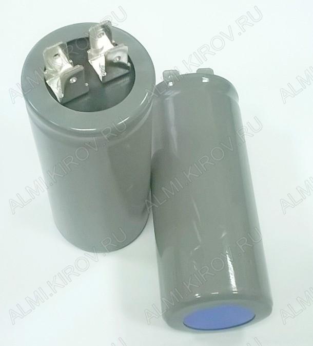 Конденсатор пусковой 100мкФ 300В CD-60 клеммы пусковые (33*80мм) электролит.неполярные