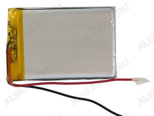 Аккумулятор LP385590 (3.7V; 1800mAh) без защиты Li-Pol; 3.8*55*90мм                                                                                                               (цена за 1 аккумулят