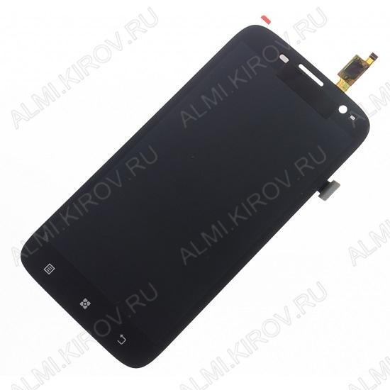 Дисплей для Lenovo A859 тачскрин черный
