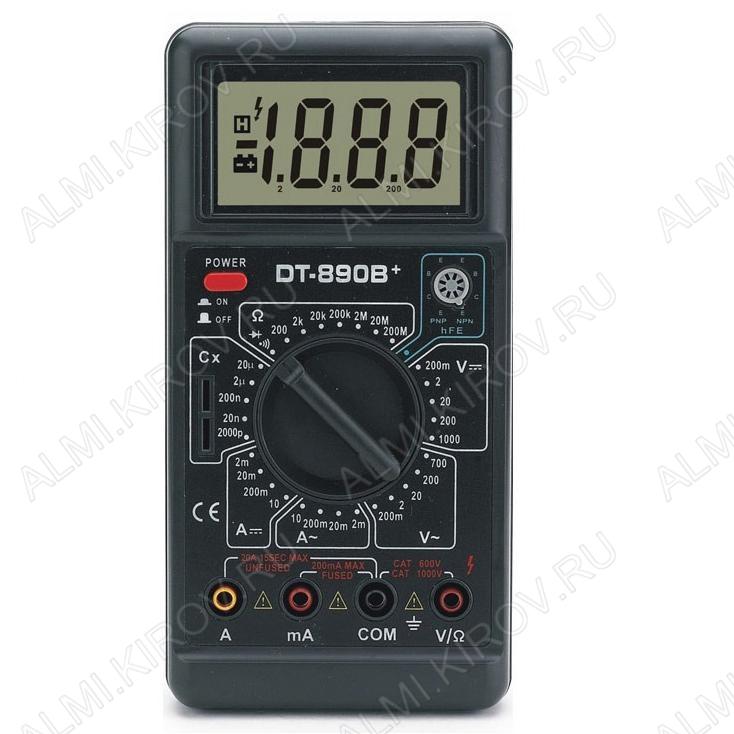 Мультиметр DT-890B+ НЕ ПОСТАВЛЯЕТСЯ!!! (гарантия 6 месяцев)
