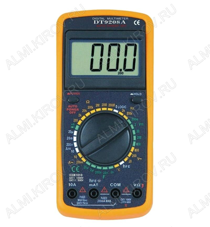 Мультиметр DT-9208A (гарантия 6 месяцев)