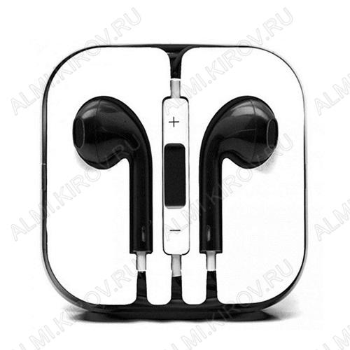 Наушники вкладыш с микрофоном (Гарнитура для iPhone 5 черная Copi)
