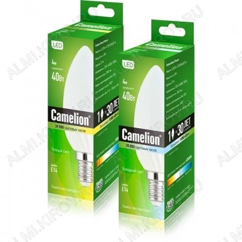 Лампа светодиодная 220В/  4Вт/ E14/ 4500К (дневной белый) (L129)/ 360Lm (LED4-C35/845/E14);